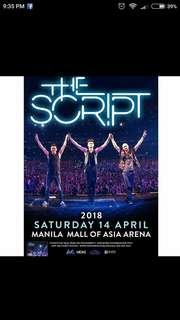 Looking for: THE SCRIPT upperbox ticket