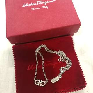 NEW Authentic Salvatore Ferragamo Double Gancio Necklace