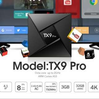 Android TV Box 8 core Tx9 Pro