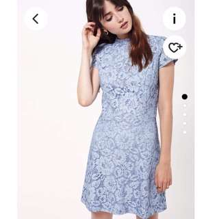 Miss Selfridge baby blue lace dress