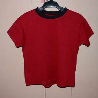 Dark Red Crop Top