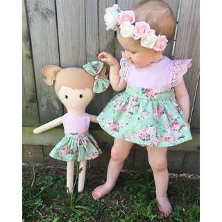 SET ROMPERS/ DRESS + HEADBAND