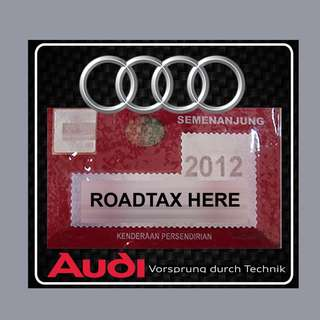 Road Tax Sticker - AUDI