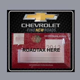 Road Tax Sticker - Chevrolet