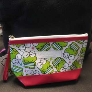 泰國版Sanrio keroppi 化粧袋