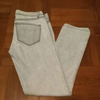 Club Monaco low-waisted washed white jeans 洗水白色 低腰 彈性 牛仔褲