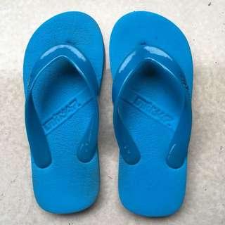 Sendal Sandal jepit biru busa tebal