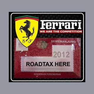 Road Tax Sticker - Ferrari