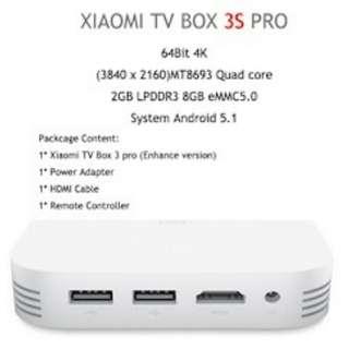 Original Xiaomi TV Box 3S Pro - White