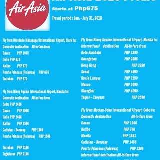 Air Asia Promo Travel Period Jan.- Jul 31, 2015
