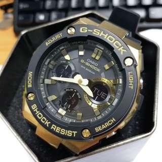CASIO G-SHOCK 黑金 GST-S100G (99.99%新)