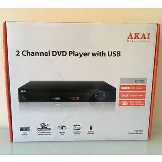 Akai 2 Channel DVD Player with USB