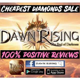 Cheap Dawn rising & Demoncer Game Diamonds Credits