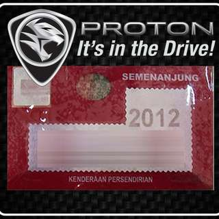 Road Tax Sticker - PROTON
