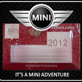 Road Tax Sticker - Mini