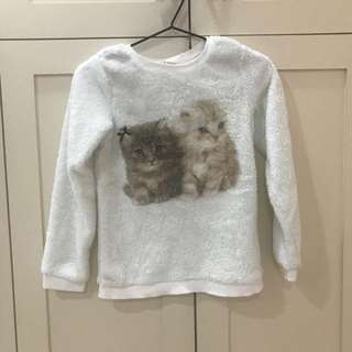 Furry long sleeves H&M girl shirt