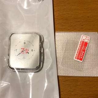 Apple Watch 42mm 軟膠殼連玻璃貼 (#2)
