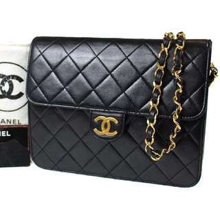 Authentic Chanel Leather Bag Vintage Bag 手袋