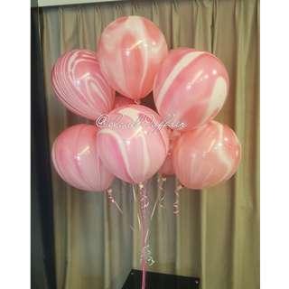 Marble Print Helium Balloon (4 colors)