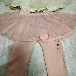 Baby GAP legging with skirt size 0-2 years