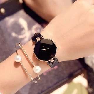 (順豐包郵with delivery) 黑色時尚手錶 Black Stylish Watch