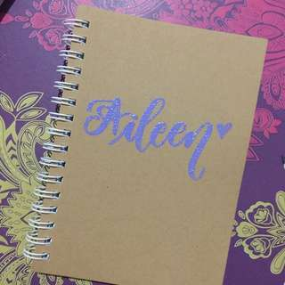 Personalized notebook(plain&spring) embossed