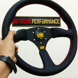 STEERING OMP SEMI DEEP DISH 3 SPOKE (LIMITED EDITION)