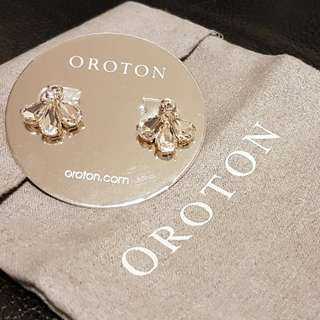65% off Australian Brand Oroton crystal earrings (Dior style)