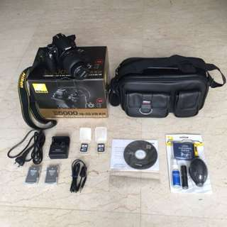 [Spoilt LCD monitor] Nikon D5000 DSLR 18-55 VR Kit (with additional accessories)