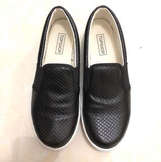 Topshop platform shoes snake skin