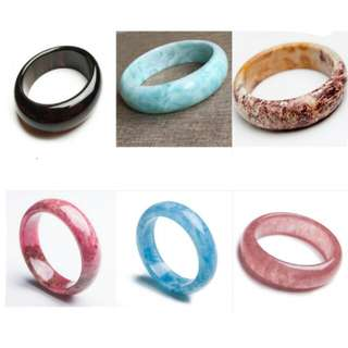 Natural stone bangle gift similar to jade bangle good quality