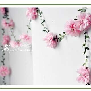 Wedding deco - 2m flowers banner