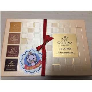 """""""低於65折""""只限一盒 - GODIVA片裝巧克力禮盒36片裝"""