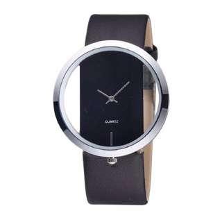 (順豐包郵 with delivery) 黑色時尚手錶 Black stylish watch