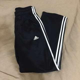 Adidas 運動褲 愛迪達 三線運動褲 經典款 黑色 風褲
