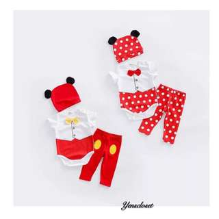 SB282 Mickey and Minnie Clothing set(3 in 1) 米奇米妮套装(3件套)
