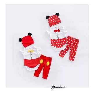 SB282 Mickey and Minnie Clothing set(3 in 1) 米奇米妮套装(3件套)