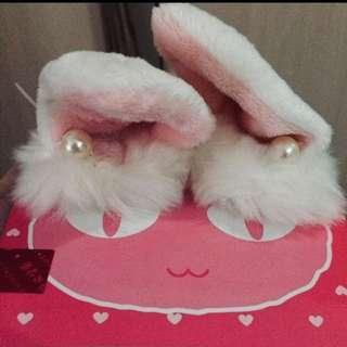 Hiasan jepitan bunny pearl