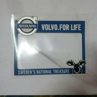 Volvo roadtax sticker
