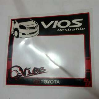 Toyota vios sticker