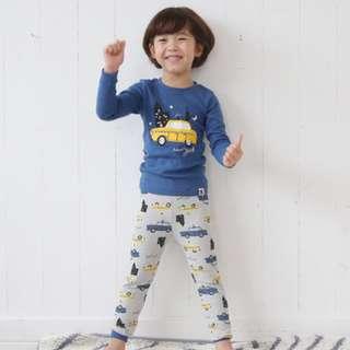 [Ready Stock] Kids Sleepwear for 2 - 12 yrs old - Blue Car