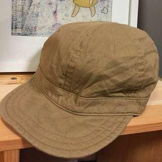 日本 muji 無印良品 卡其色 帽子
