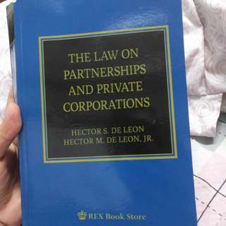 The law on Partnership and Private Corporation