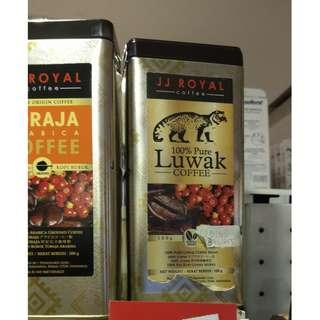 印尼代購 皇家 JJ Royal 羅布斯塔100% Pure Luwak coffee 1/19回台