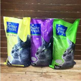 Feline Fresh 10 Liters Cat Litter Lavander Apple Lemon Scent