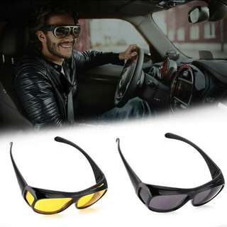 HD Vision Night View Driving Wrap Around Glasses Set of 2