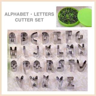 🎂 ALPHABET • LETTERS ALUMINUM CUTTER SET Cake Decorating Tool for Cookies • Fondant Cake & Cupcake • Bread Dough • Pastry • Sugar Craft • Jelly • Gum Paste • Polymer Clay Art Craft •