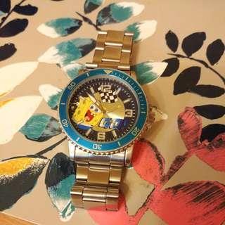 海綿寶寶 鋼帶手錶 運作正常 watch sponge bob