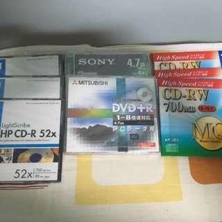 Blank CD-R, CD-RW, DVD+R & DVD-RW