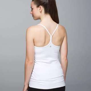 EUC - LULULEMON - Power Y Athletic Tank Top w/ built in bra* Size 4